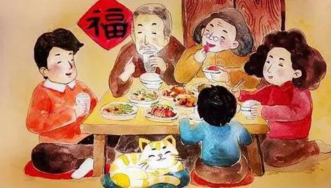 家里吃饭照片_妈妈喊我回家吃饭